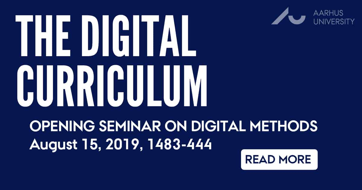 Seminar on digital methods for BA students by Digital Arts Initiative and CUDiM, Aarhus
