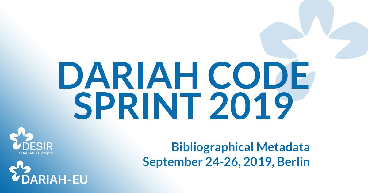 DARIAH Code Sprint 2019, Berlin