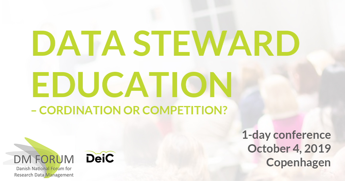 Data Steward Education - coordination or competition, Copenhagen