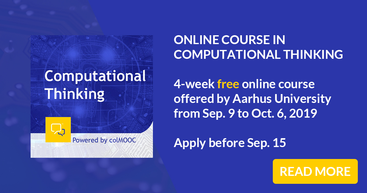 Free online course (MOOC) in Computational Thinking by Aarhus University