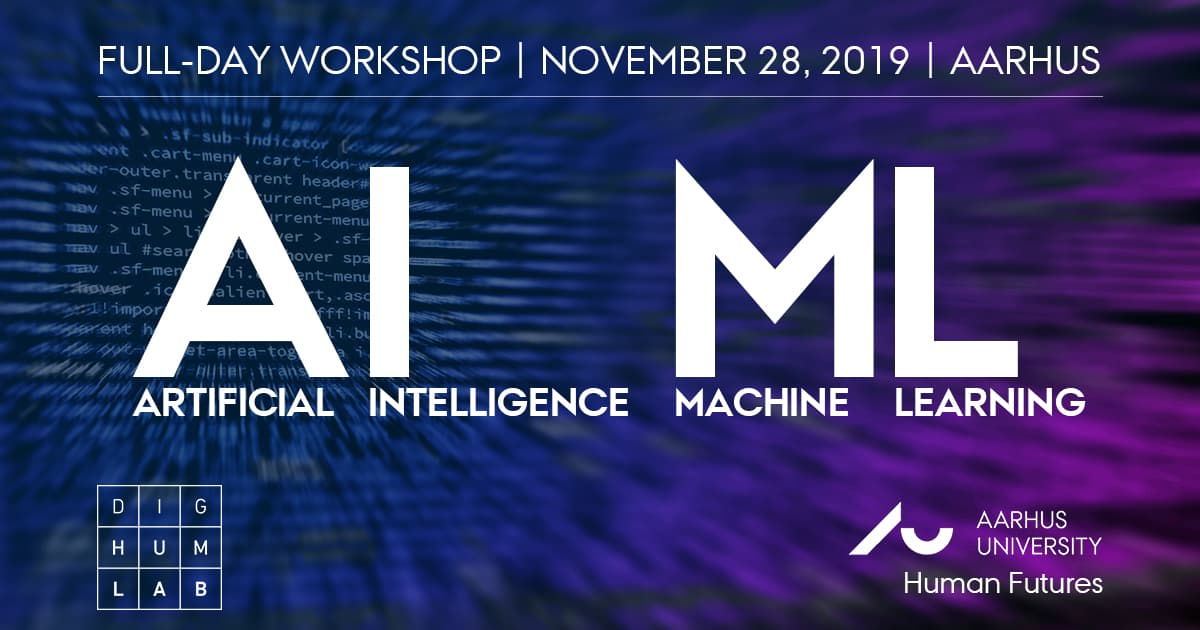 CALL FOR PARTICIPATION: Full-day workshop on AI and machine learning for humanities researchers, Aarhus