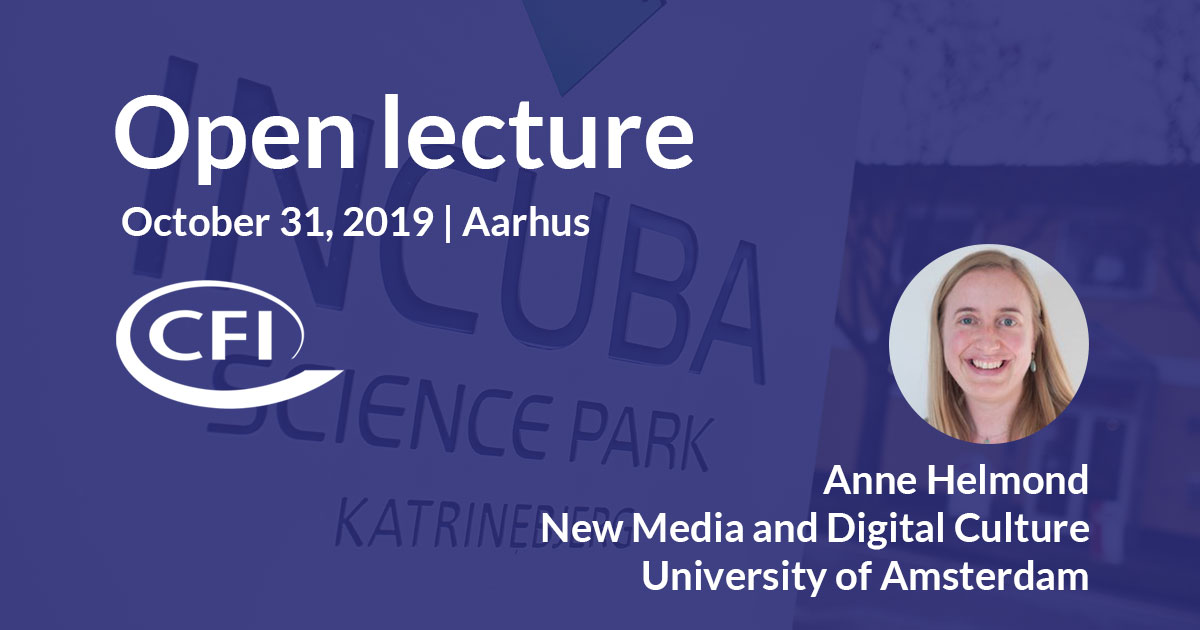 Centre for Internet Studies Open Lecture on websites, platforms, and apps, October 31, Aarhus