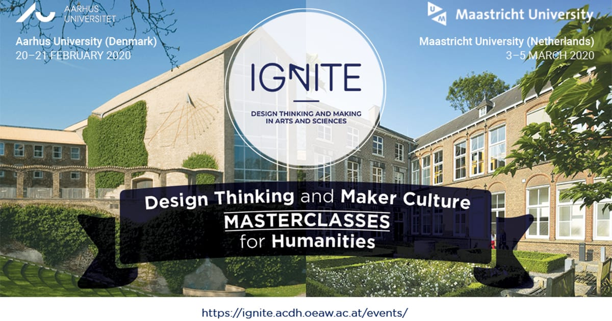 MASTERCLASS: Bringing Postgraduate Humanities Students to Design Thinking and Maker Culture, 20-21 February 2020, Aarhus