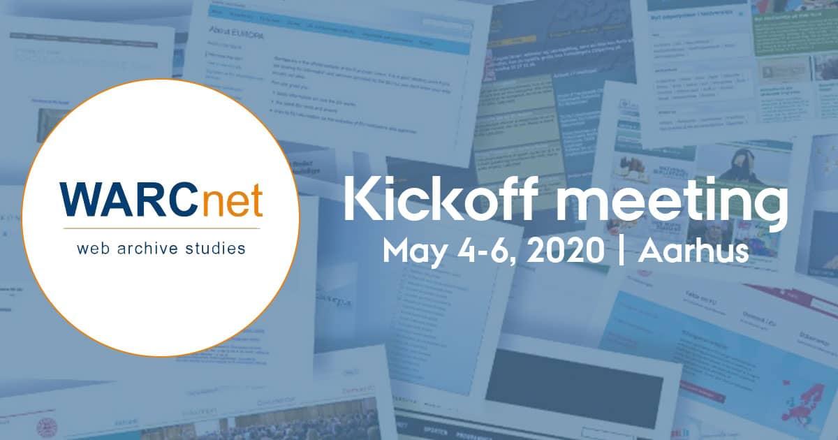 WARCnet kickoff meeting, 4-6 May 2020, online