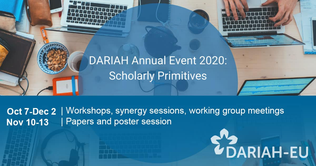 DARIAH Virtual Annual Event 2020: Scholarly Primitives