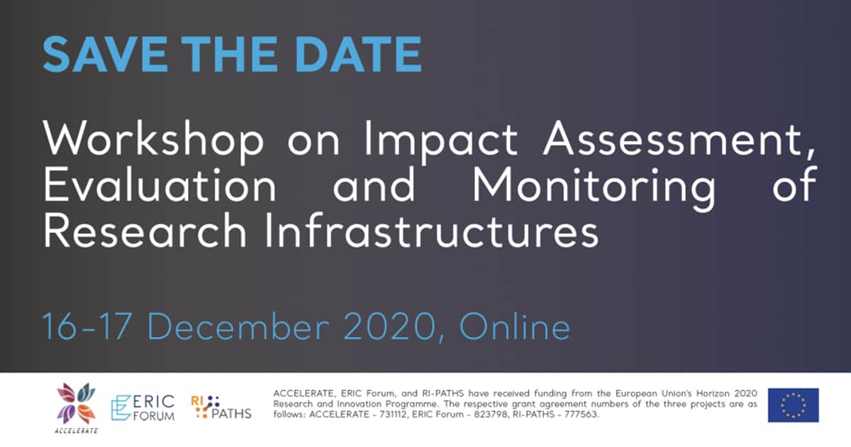 Workshop on Impact Assessment, Evaluation and Monitoring of Research Infrastructures, December 16-17 2020, online