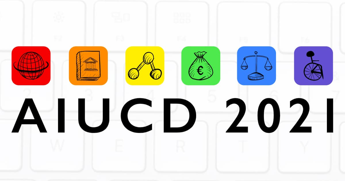 AIUCD 2021 - DHs for Society: E-quality, Participation, Rights and Values in the Digital Age, January 19-22 2021, virtual