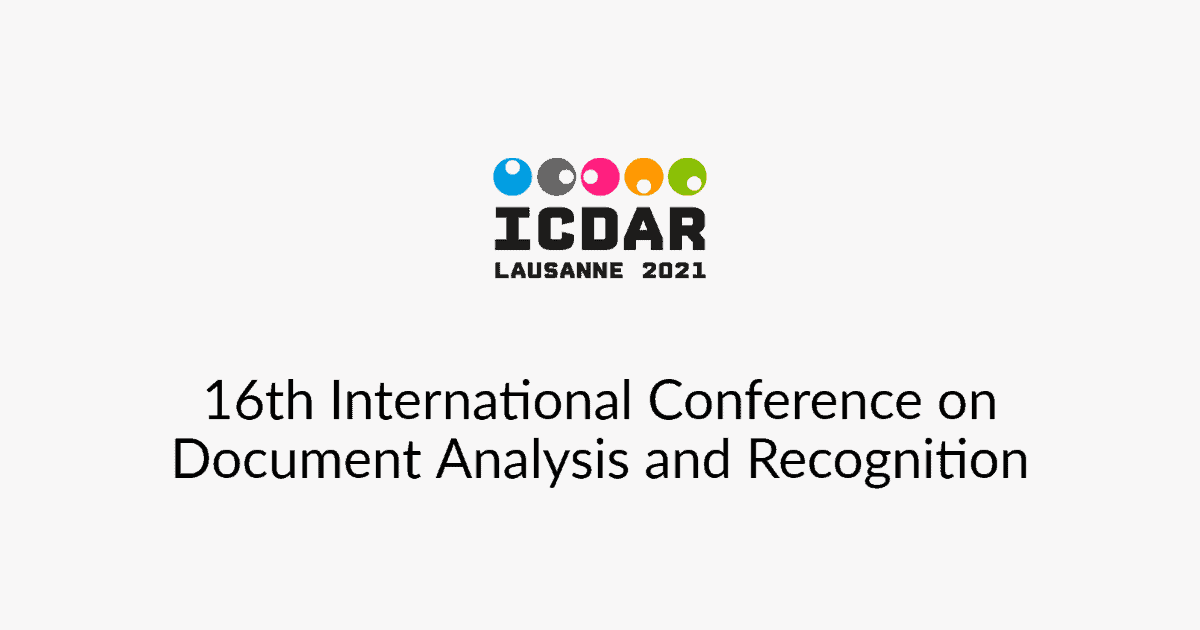 ICDAR 16th International Conference on Document Analysis and Recognition, September 5-10, 2021